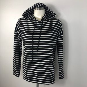 Joe Fresh Black & White Striped Hoodie